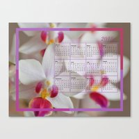 calendar 2015 Canvas Prints featuring Calendar 2015 Orchids by Lena Photo Art