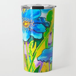 Blue Poppies 2 Travel Mug