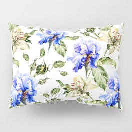Irisis and lilies - flower pattern no3 Pillow Sham