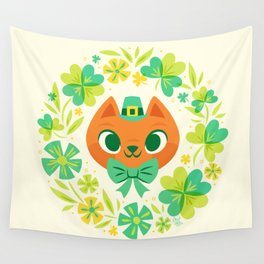 The Luckiest Kitty Wall Tapestry
