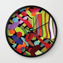 Stripes and Spots Wall Clock