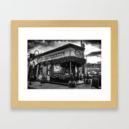 Boyds Jig and Reel - Black and White Framed Art Print