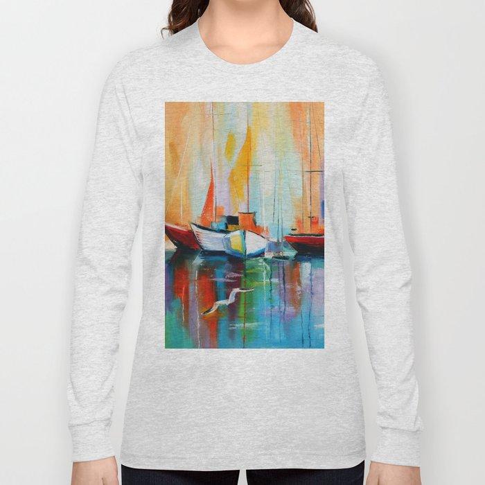 Boats at the dock Long Sleeve T-shirt