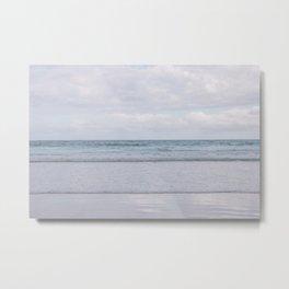 Waves rollin' through Mangawhai Beach Metal Print