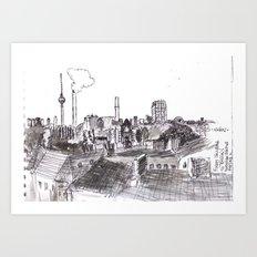 Foggy Berlin Art Print