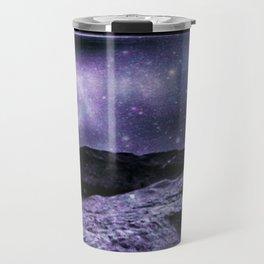 Magical Mountain Lake Purple Teal Travel Mug