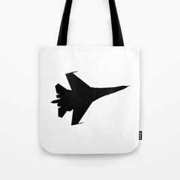 F16 Flying Jet Silhouette Tote Bag