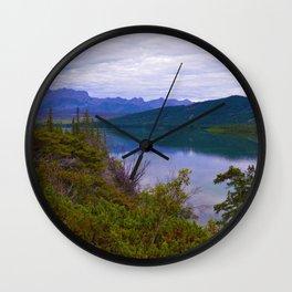 Edna Lake in Jasper National Park, Canada Wall Clock