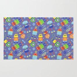 Fun Robot Toy Pattern Rug