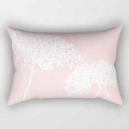 Queen Anne's Lace Pink Rectangular Pillow