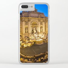 Trevi Fountain at dusk Clear iPhone Case