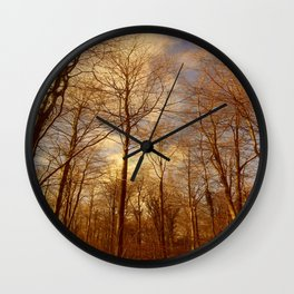 Reaching for Spring. Wall Clock