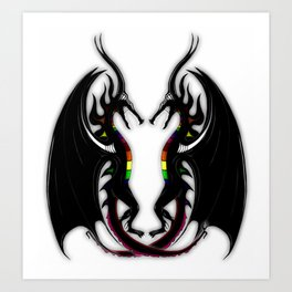 Black Dragons Art Print