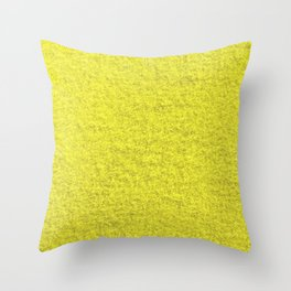 Yellow Fleecy Material Texture Throw Pillow