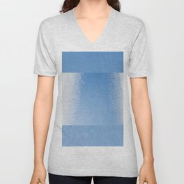 Water condensation on window and freezing snow Unisex V-Neck