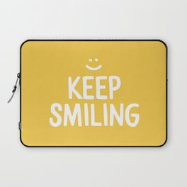 Keep Smiling Quote - Yellow Laptop Sleeve