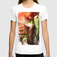 smoking T-shirts featuring No Smoking by Vincent Vernacatola