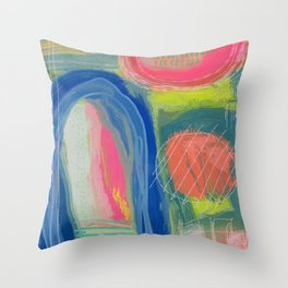 Abstract Shelter Throw Pillow