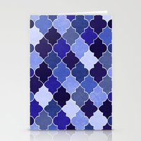 morocco Stationery Cards featuring Morocco Blue by Jacqueline Maldonado