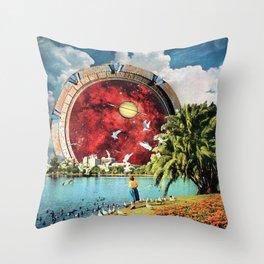 Stargate Installation Throw Pillow