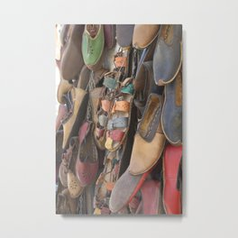 Colourful Hand Crafted Sandals Metal Print