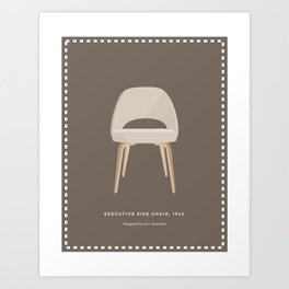Mid-Century Executive Side Chair Art Print