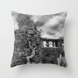 Old Tree in Cill Chriosd Churchyard Throw Pillow