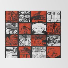 RED & WHITE - A nne Frankenstein Book I - Resurrection Throw Blanket