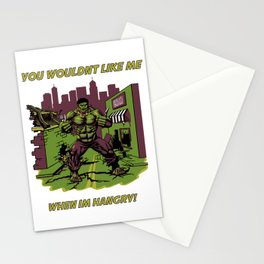 Hangry Hulk Stationery Cards