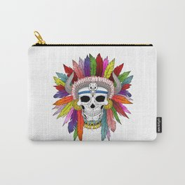 Shamanistic skull Carry-All Pouch