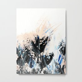 Indigo Salmon Abstract ll Metal Print