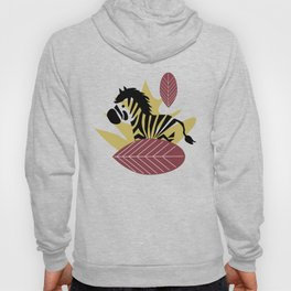 Zebra with leaves and dots Hoody