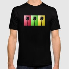 Palm Trees Rasta Mens Fitted Tee SMALL Black