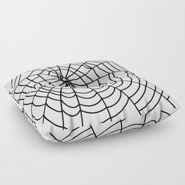 black spider on white background Floor Pillow