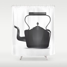 Victorian Black Kettle Shower Curtain