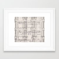 blueprint Framed Art Prints featuring Blueprint by hoopderscotch
