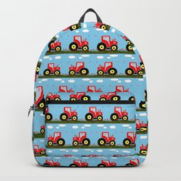 Toy tractor pattern Backpack