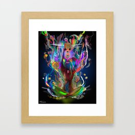 Ethereal Cosmosis Framed Art Print
