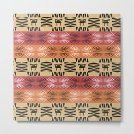 African Tribal Pattern No. 212 Metal Print