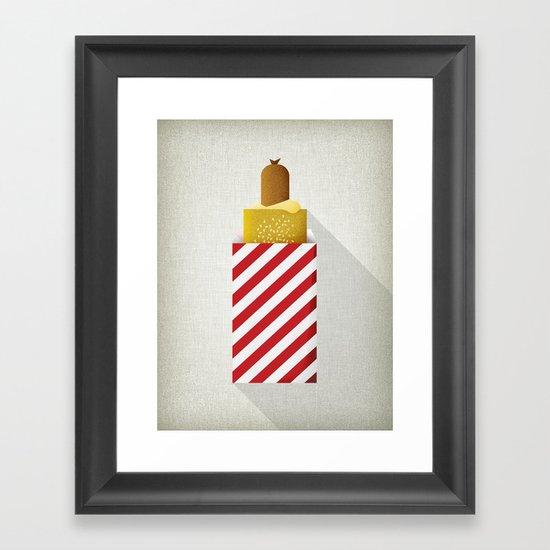 French Hotdog Framed Art Print