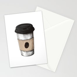 Coffee To Go Stationery Cards