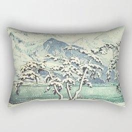 Seasonal Snow at Dara Rectangular Pillow