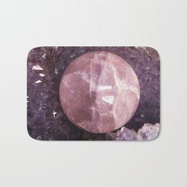 Amethyst and Pink Quartz Gemstone Bath Mat