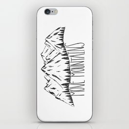 MOVE MOUNTAINS iPhone Skin