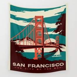 vintage poster san francisco Wall Tapestry