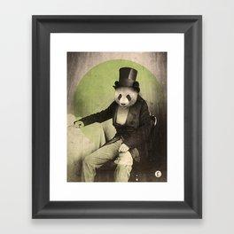 Proper Panda Framed Art Print