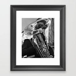 The Tuba Player Entertains Framed Art Print