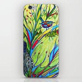 Peacock In Dreamland iPhone Skin