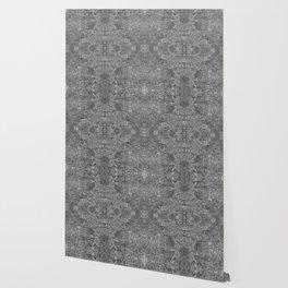 Grey and black swirls doodles Wallpaper