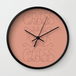 Crass with Class Wall Clock